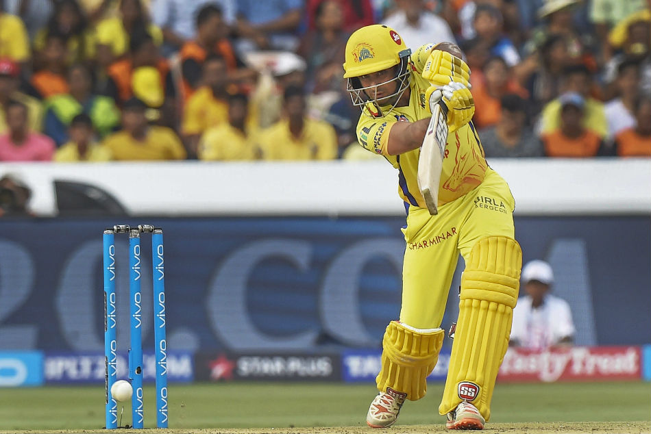 Ambati Rayudu of Chennai Super Kings (CSK) hits one en route to his 79 against Sunrisers Hyderabad (SRH) during their IPL 2018 clash