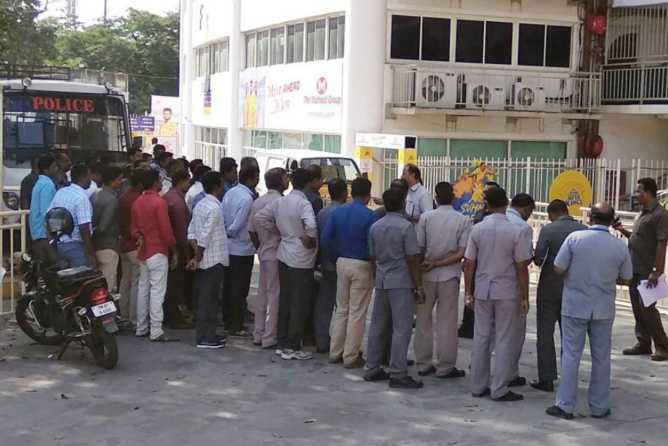 The Chidambaram stadium has turned into a virtual fortress with 4,000 policemen including commandos and members of the Rapid Action Force deployed for security ahead of Chennai Super Kings first home match on Tuesday (April 10)