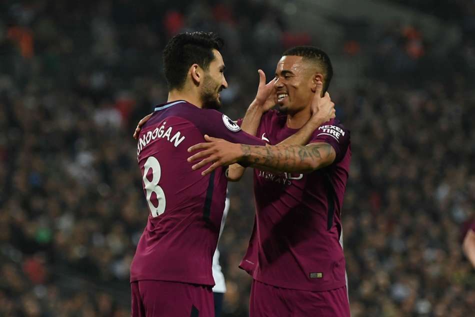 Ilkay Gundogan and GabrielJesus