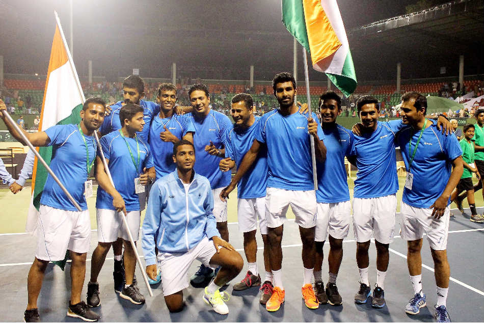 Indias Davis Cup team previously played Serbia in a World Group Play-off tie in 2014, losing 2-3 in Bengaluru