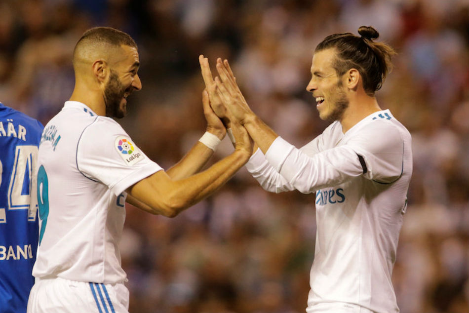 Real Madrids misfiring duo Karim Benzema (left) and Gareth Bale