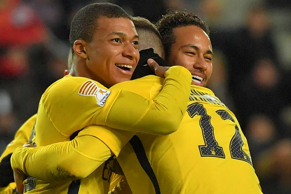 Kylian Mbappe (left) key to PSGs title success