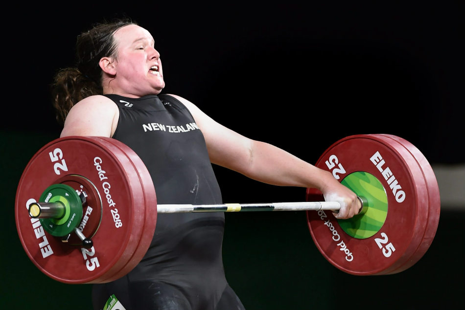 New Zealand transgender weightlifter Laurel Hubbard competes in the womens +90kg weightlifting category at the 2018 Commonwealth Games in Gold Coast on Monday