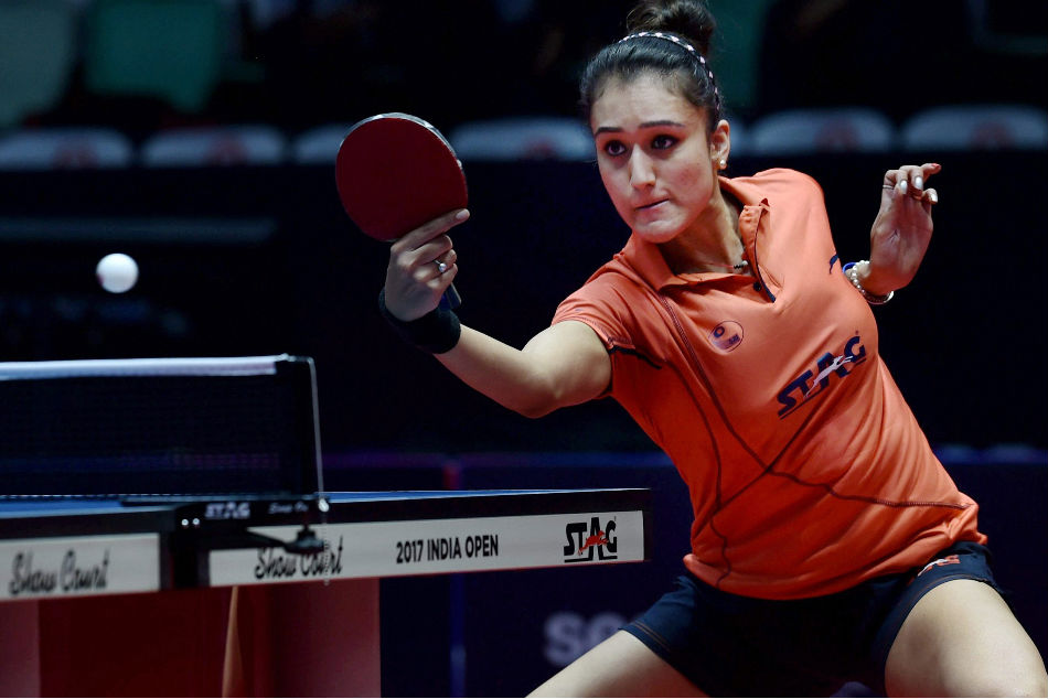 Manika Batra of India, silver medallist along with Mouma Das in the doubles event at the Commonwealth Games 2018 in Gold Coast