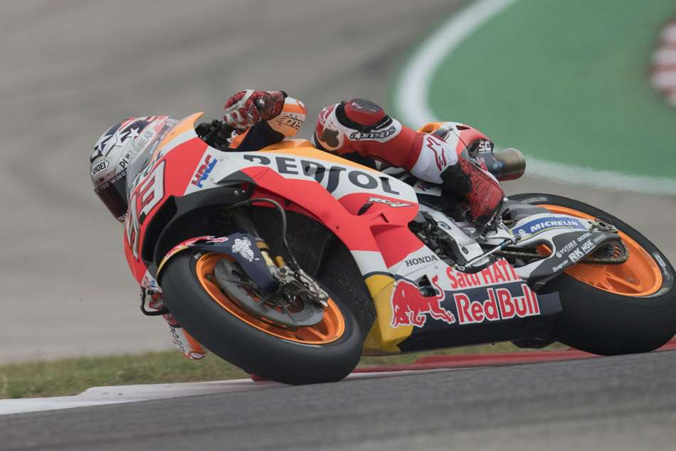 Defending champion Marc Marquez gets first win of the season