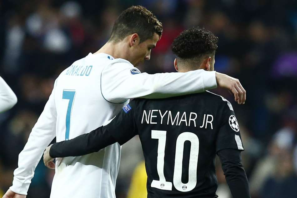 PSGs Neymar (right) linked with move to join Cristiano Ronaldo at Real Madrid