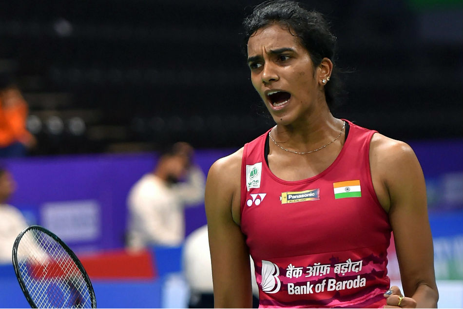 PV Sindhu of India beat Canadas Brittney Tam in her Commonwealth Games 2018 quarterfinal