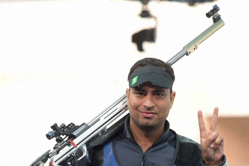 Shooter Sanjeev Rajput swelled Indias medal tally winning gold in the 50M Rifle 3 Positions