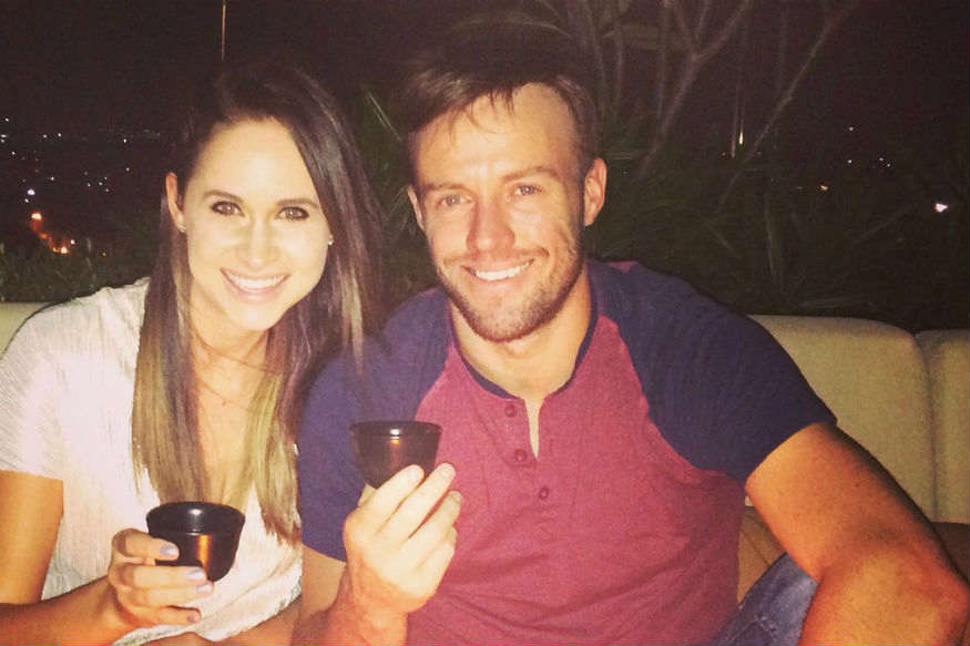 AB de Villiers and his Danielle share a beautiful moment together (Courtesy Twitter of Danielle)