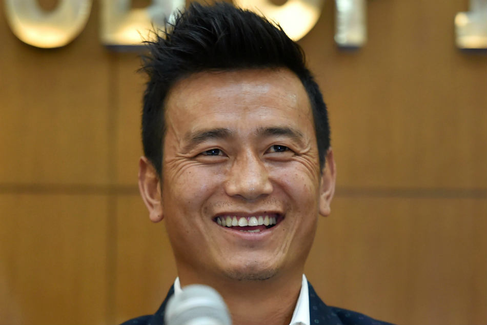 Bhaichung Bhutia during the launch of his political party Hamro Sikkim