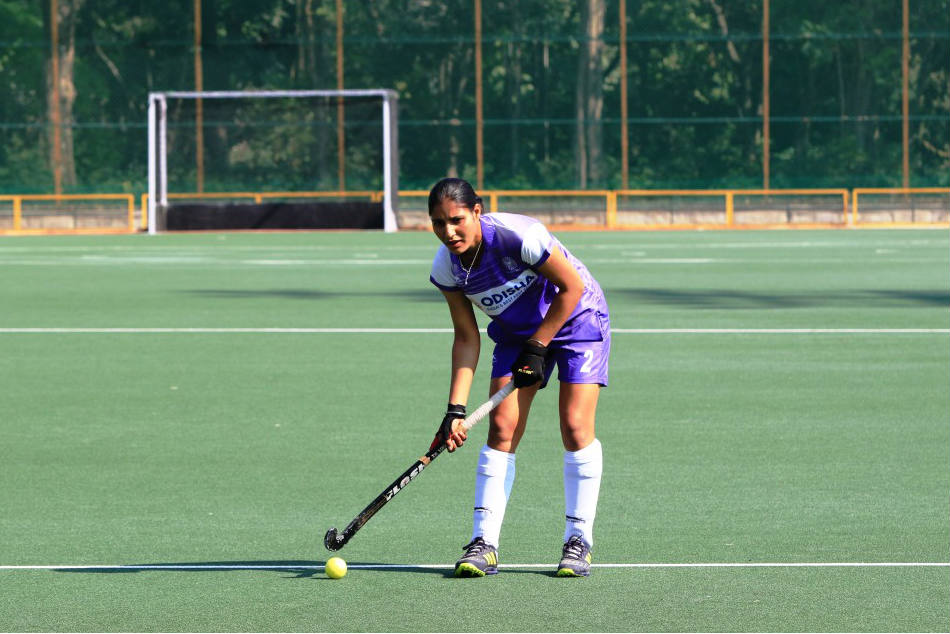 A file picture of Gurjit Kaur, India hockey drag-flicker
