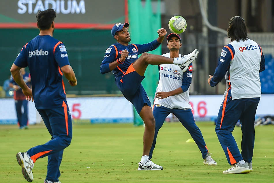 Hardik Pandya of Mumbai Indians during an IPL 2018 training session