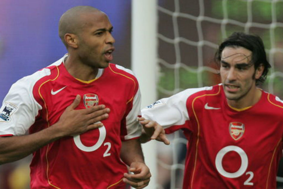 Arsenal legends Thierry Henry (left) and Robert Pires