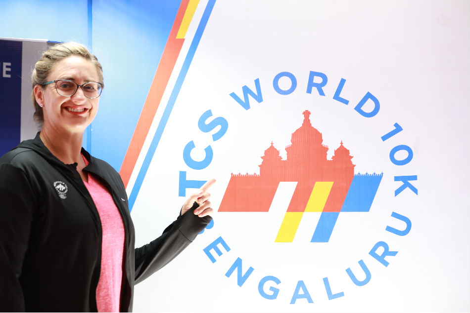 Mary Pierce in Bengaluru as the International Event Ambassador for the TCS World 10K