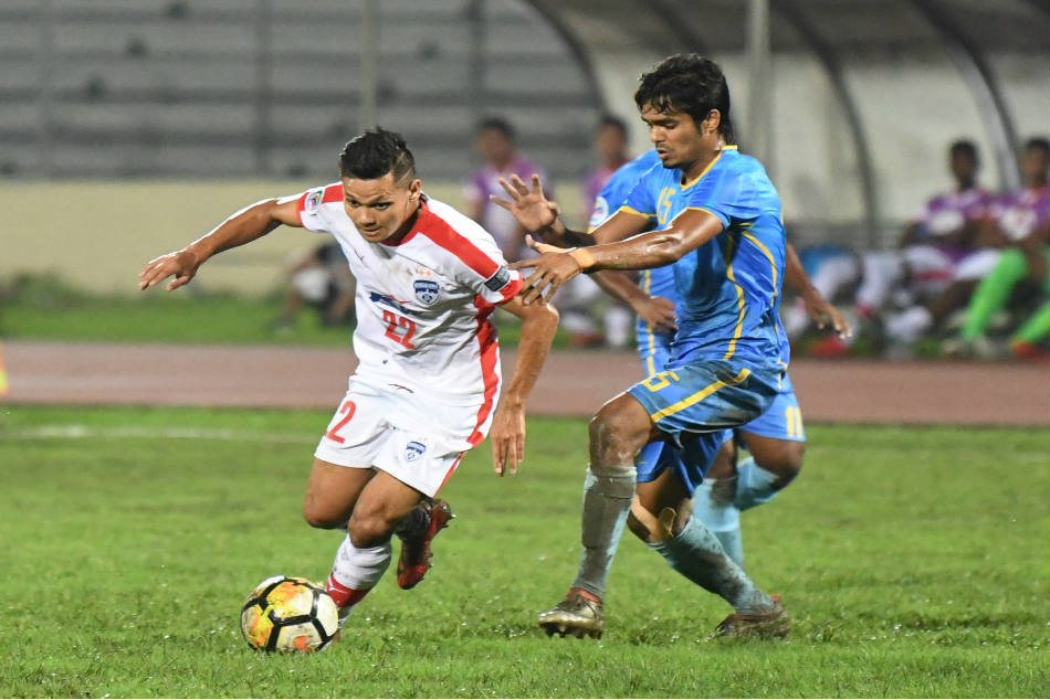 Nishu Kumar of Bengaluru FC in action against Abahani Dhaka during their AFC Cup 2018 Group E match on Wednesday. The defender scored two goals in the game