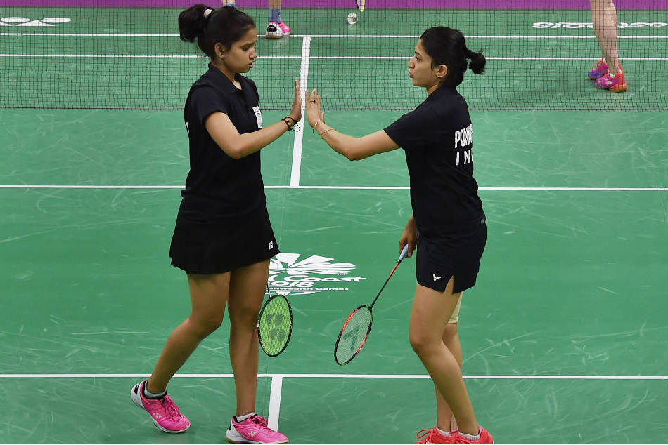 N Sikki Reddy (left) and Ashwini Ponnappa bagged the bronze medal in the womens doubles competition at the Commonwealth Games 2018 in Gold Coast