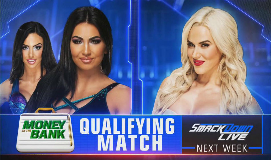 MITB Qualifer poster on Smackdown (image courtesy Twitter)