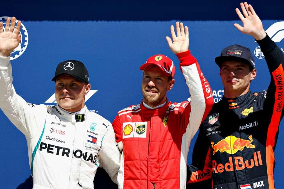 Sebastian Vettel Lewis Hamilton Canadian Grand Prix Qualifying