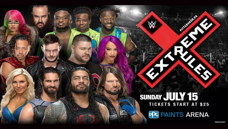 Host Venue Reveals Main Event Matches Wwe Extreme Rules