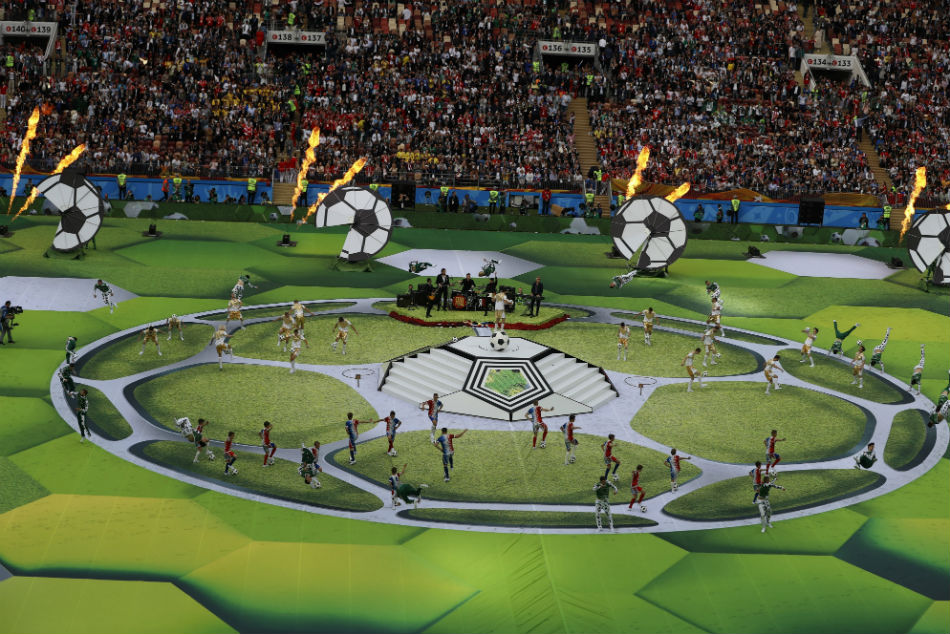 295cdec67 Artists perform before the group A match between Russia and Saudi Arabia  which opens the 2018