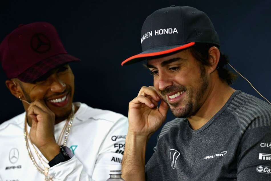 Lewis Hamilton Fernando Alonso Retirement F