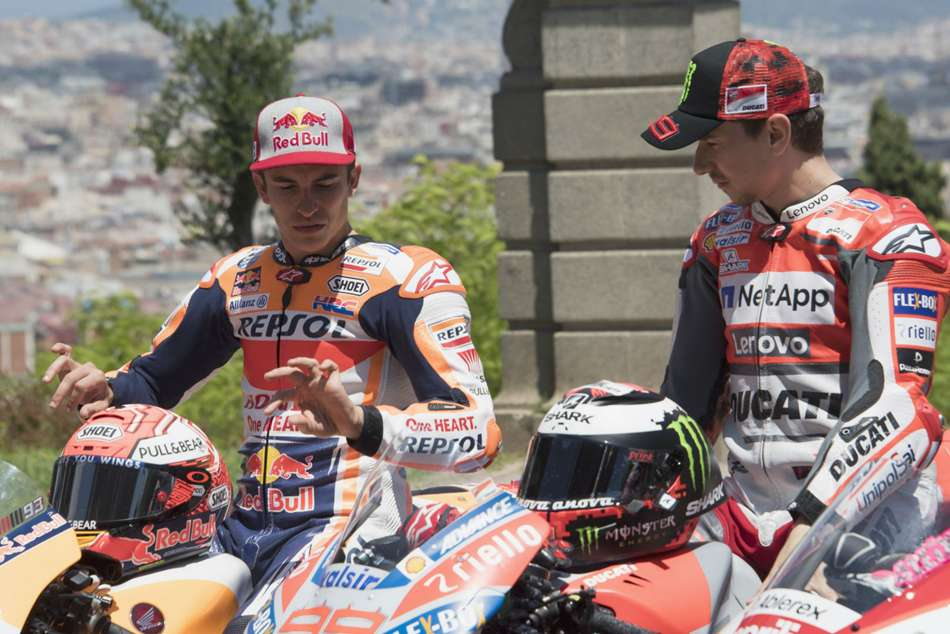 Catalan Motogp Qualifying Lorenzo Marquez
