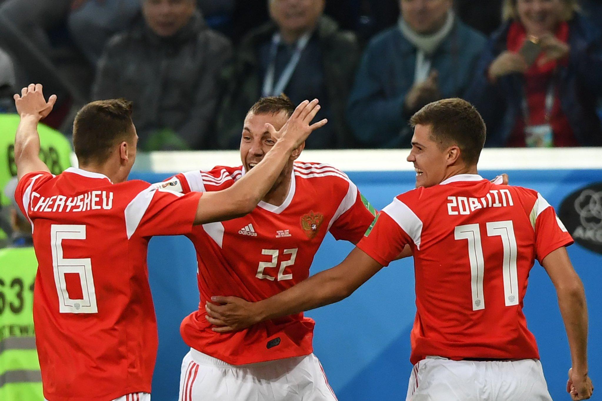 Fifa World Cup 2018 Russia Vs Egypt Match Report Novogorsk