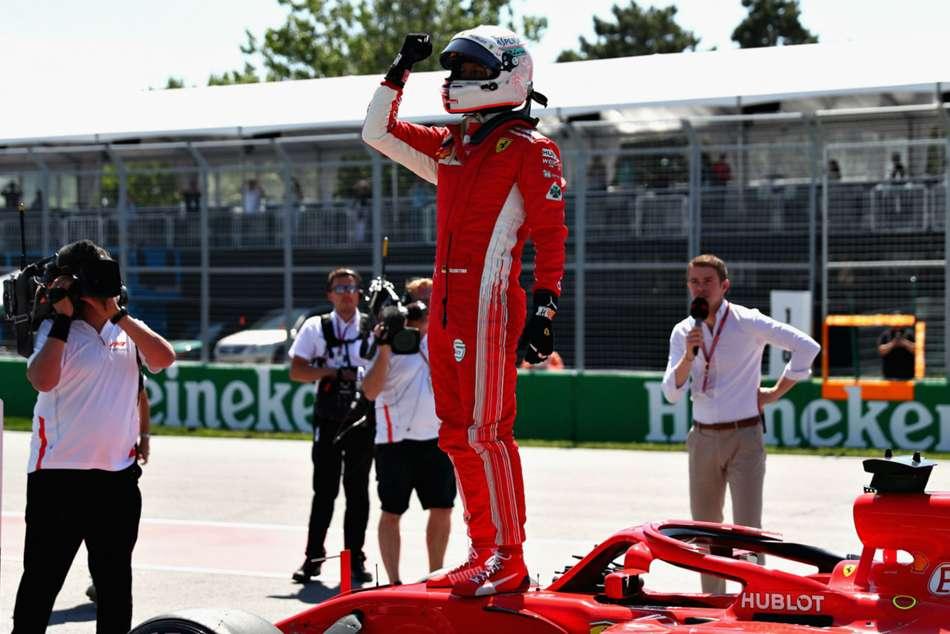 Sebastian Vettel Ends Ferrari S 17 Year Wait Canada Pole