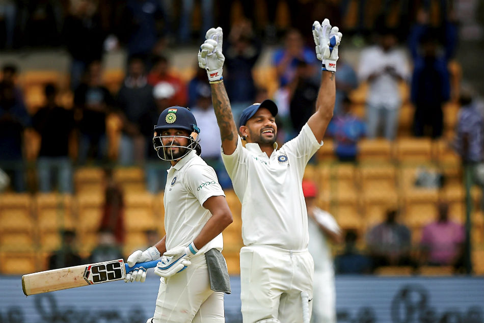 Shikhar Dhawan reaches career-best Test rankings; Vijay-Jadeja move up