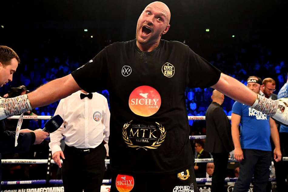 Tyson Fury beats Sefer Seferi in comeback fight