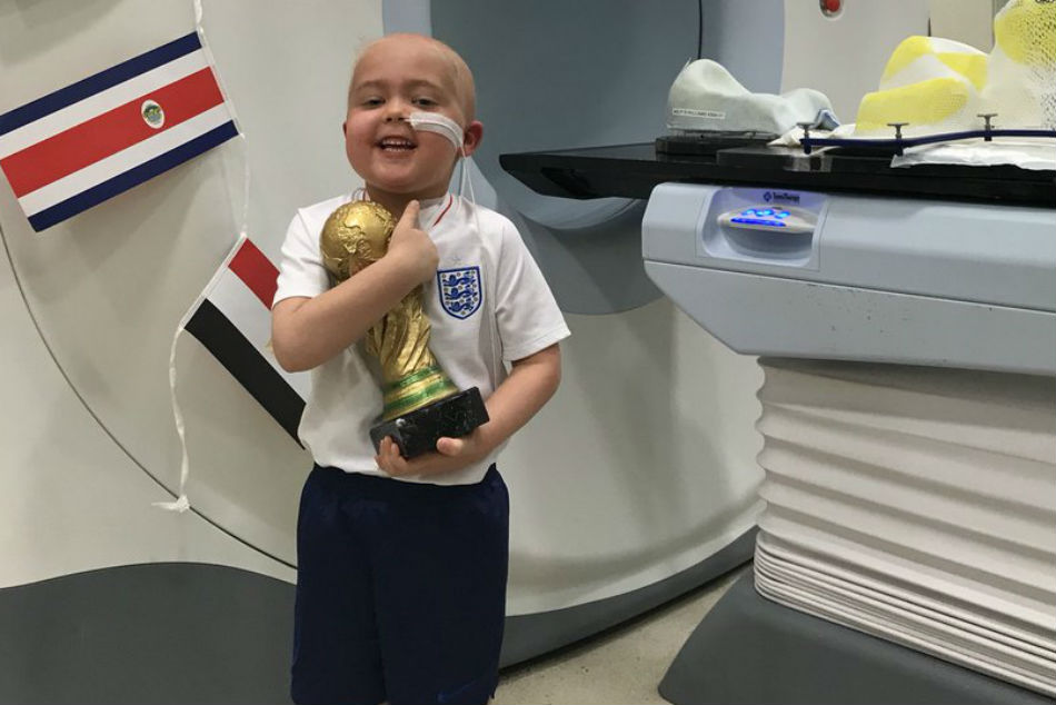 Young England Fan Rewarded With His Own World Cup
