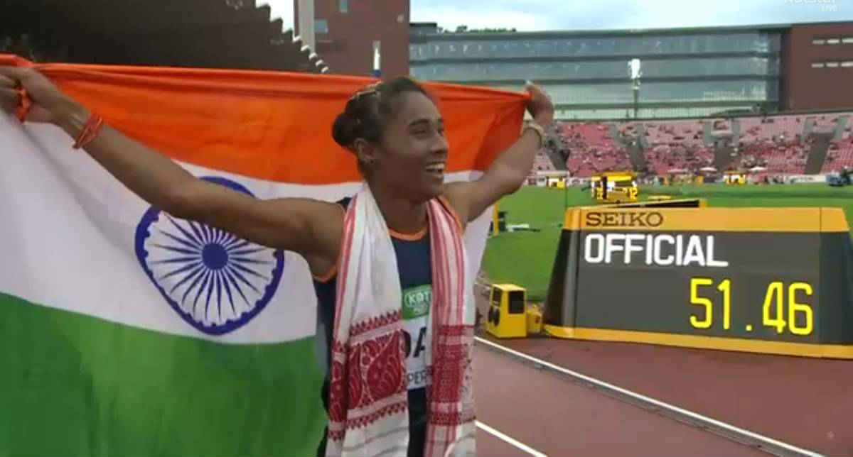 Hima Das brought laurels to the nation while winning the 400M gold in World U20 Championship