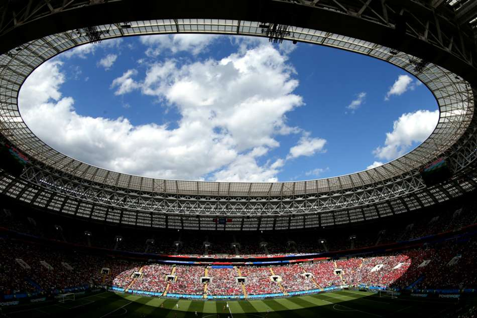 A general view of the Luzhniki Stadium in Moscow which will host the FIFA World Cup 2018 final