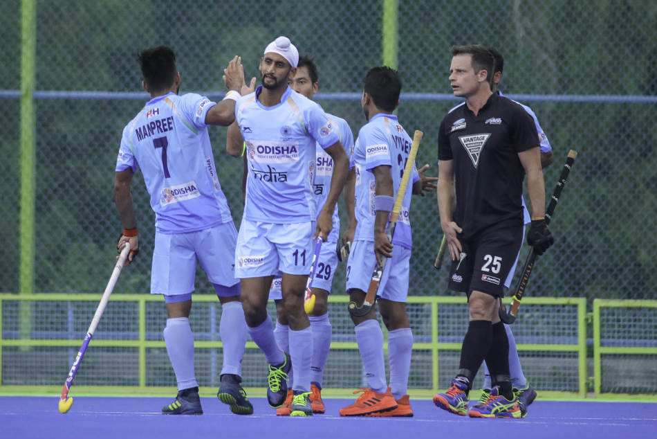 Hockey India Secure 4 2 Win Over New Zealand Ahead Asian Games 2018