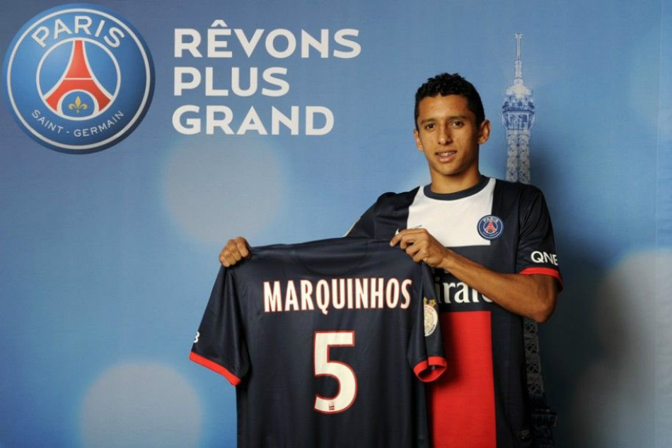 Image result for marquinhos signs for psg