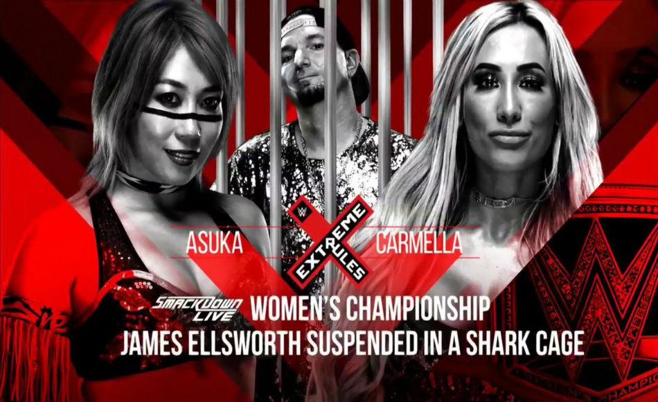 Asuka Left Vs Carmella For Smackdown Womens Championship Image Courtesy Twitter