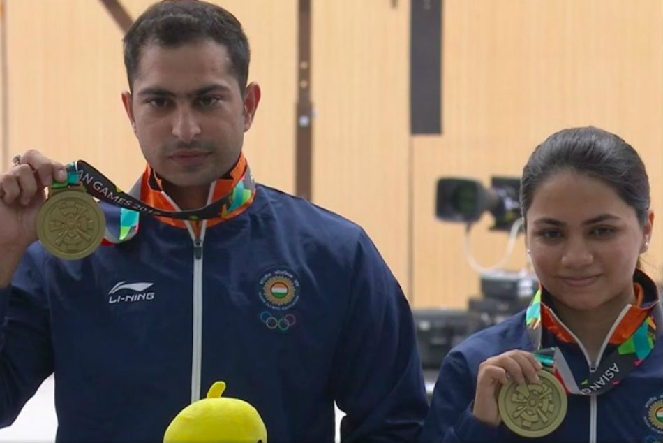 India win mixed air rifle bronze