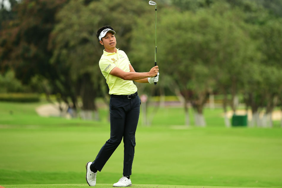 Danthai Boonma opened the days proceedings with seven straight birdies to turn in his personal best card