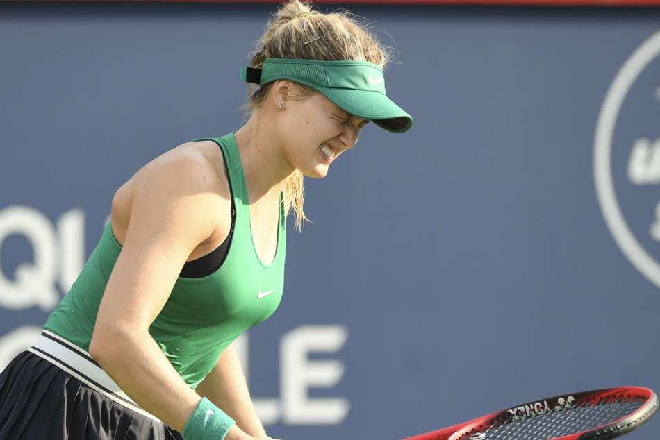 Eugenie Bouchard crashed out of Rogers Cup