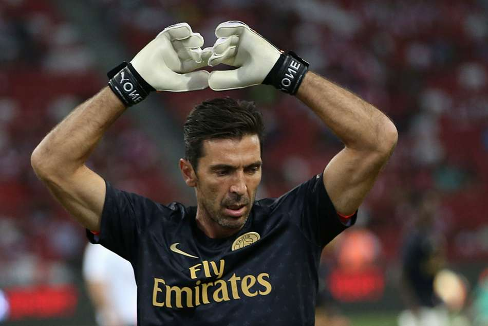 PSG goalkeeper Gianluigi Buffon