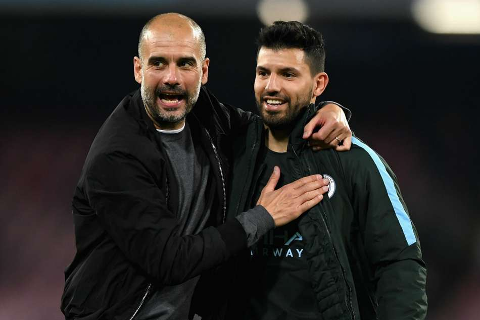 Manchester City coach Pep Guardiola could once again pick Sergio Aguero to lead the attack against Arsenal