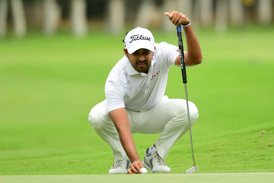 Birthday lad Khalin Joshi played a superb round to lie one shot behind the leader