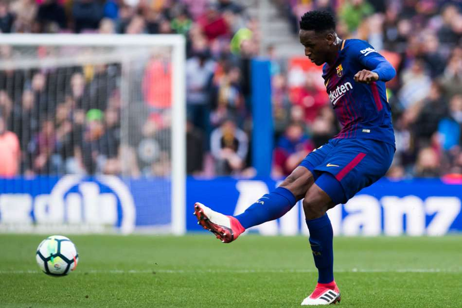 Colombia defender Yerry Mina moved to Everton from Barcelona
