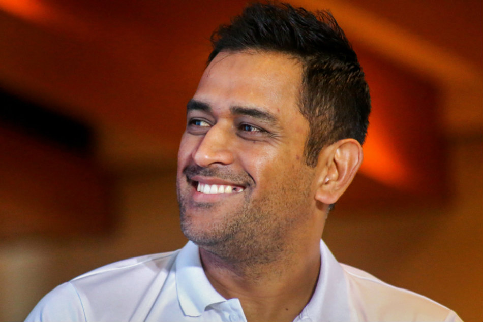 Mahendra Singh Dhoni during a promotional event in Mumbai on Tuesday