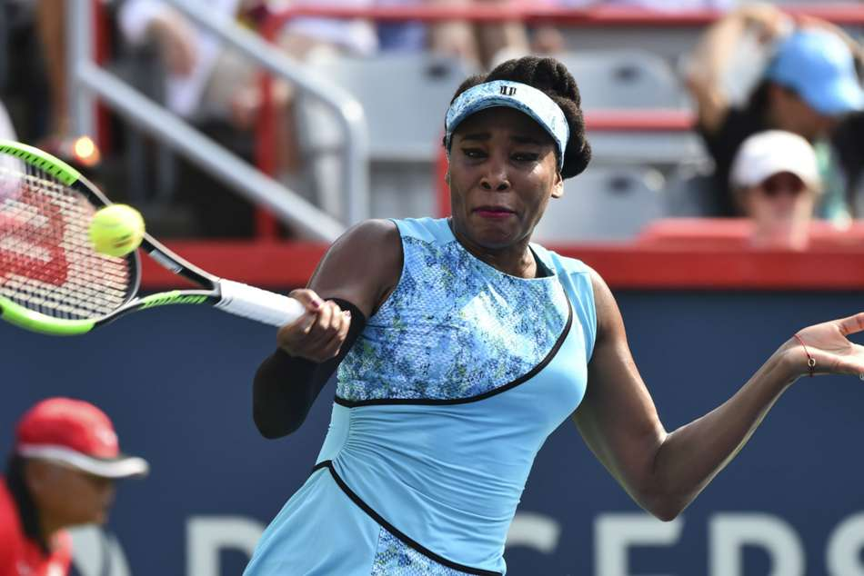 Venus Williams in action at Rogers Cup