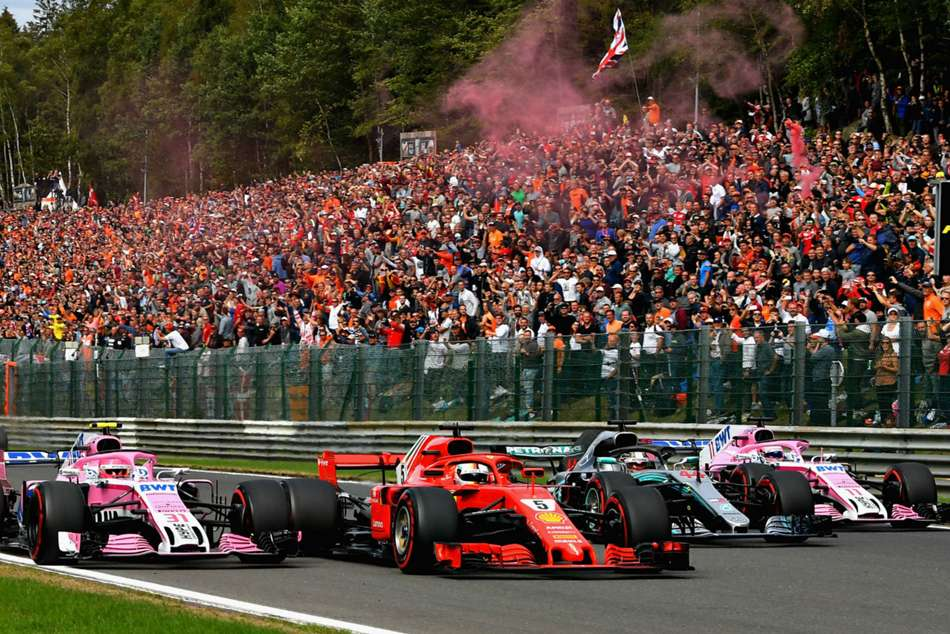 F1 Vettel Closes Gap On Hamilton After Alonso Crash At Belgian Grand Prix