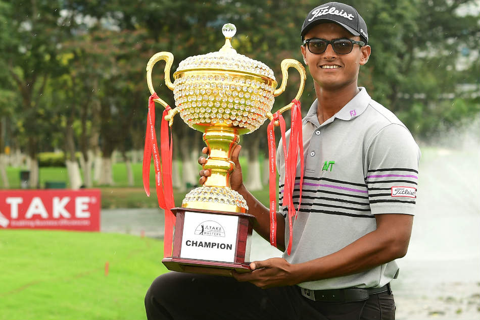 Take Solutions Masters Record Breaking Viraj Madappa Wins Maiden Asian Tour Trophy