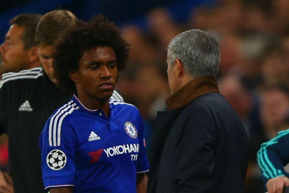 Willian won two Premier League titles under Jose Mourinho at Chelsea
