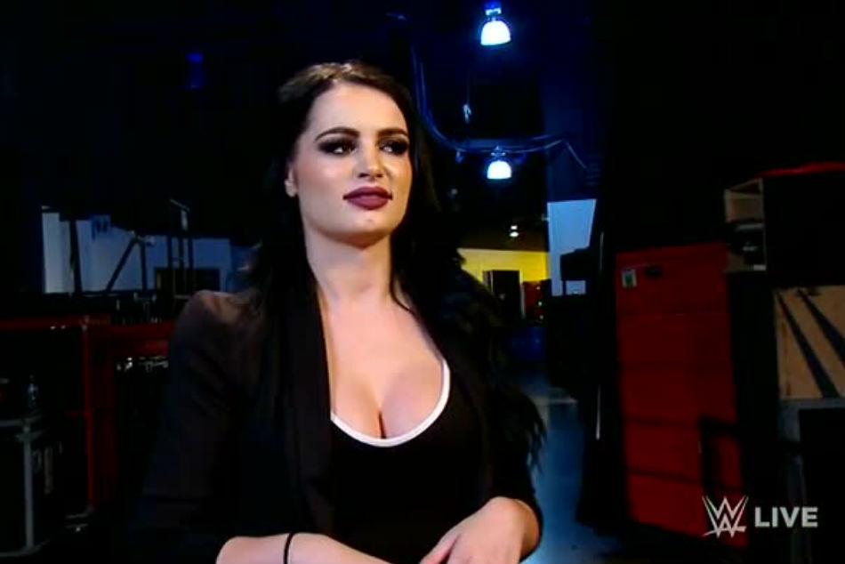 Paige as Smackdown GM (image courtesy Youtube)