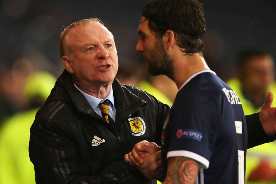 Scotland boss Alex McLeish (left) ended poor run with win over Albania